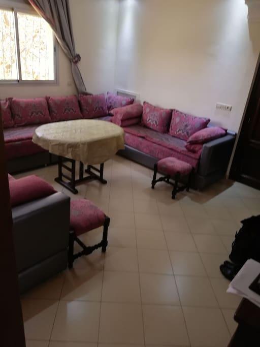 Des canapés pouvant servir de lits supplémentaires. Il y a des draps, des taies d'oreillers et des couvertures supplémentaires.