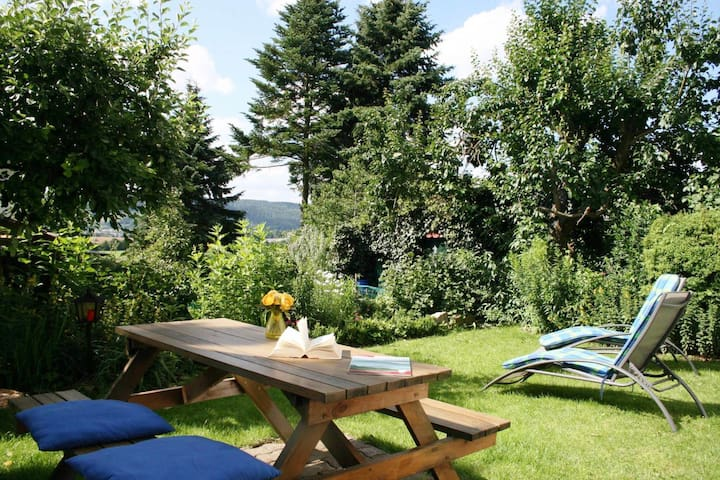 Cosy apartment in Upper Franconia with separate entrance and private sauna