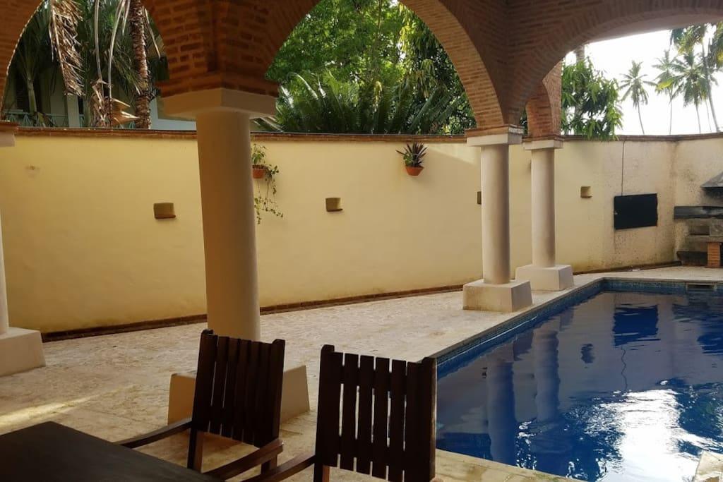 Common pool on the ground floor