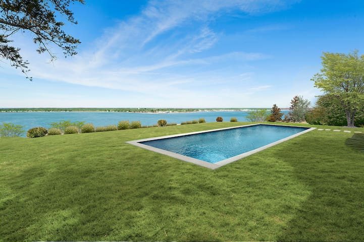 SHELTER ISLAND WATERFRONT MANSION: Pool, Beach