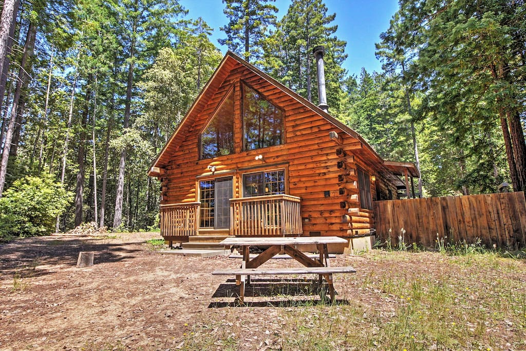 3br Log House In Sonoma County On 1 58 Acres Houses For