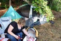 Family friendly private campsite