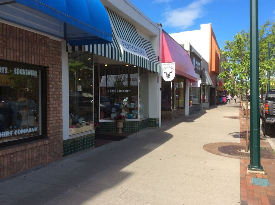 Quaint shopping and premier restaurants just blocks away in downtown Traverse City