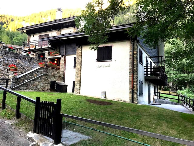 Two bedroom flat with private garden in Courmayeur