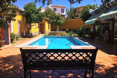 Holiday cottage with fireplace just 5 min Granada - La Zubia - House