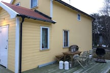 The entire cabin is for rent, with 11 beds. 90 minutes driving from the city of Tromsø.