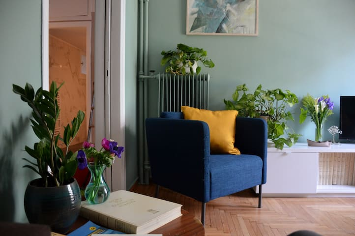Artistic and  colorful apartment at Koukaki