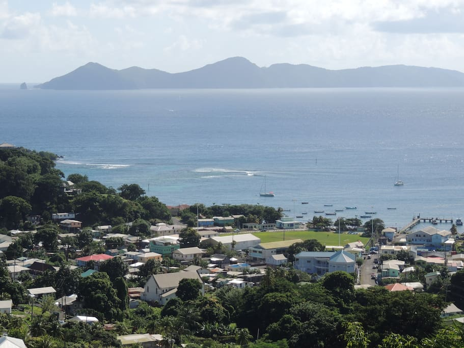 looking south to the Bequia.