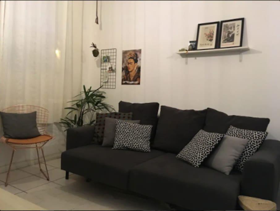 sofá aconchegante