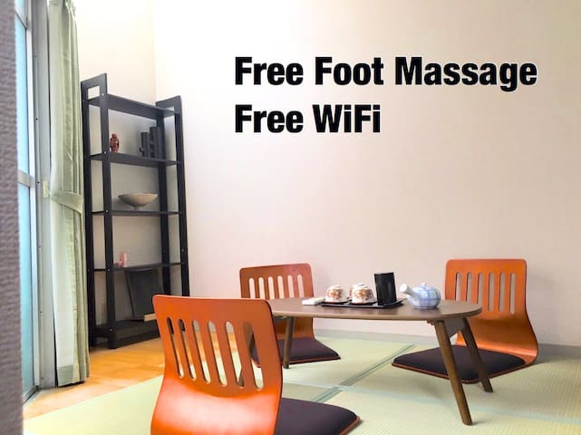2min to Subway★Japanese Modern Room★Free Massage - 大阪市 - Appartement