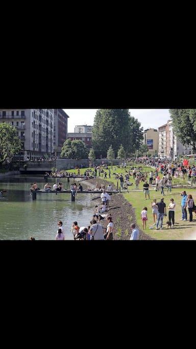 La nuova darsena The new docks of Navigli rivers