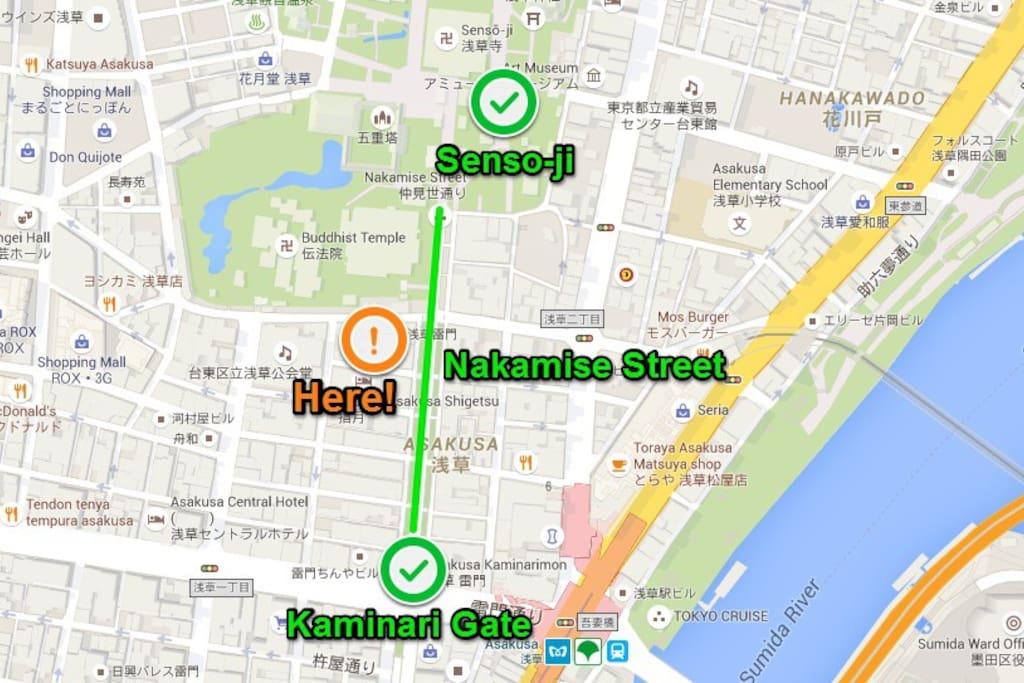 Asakusa map