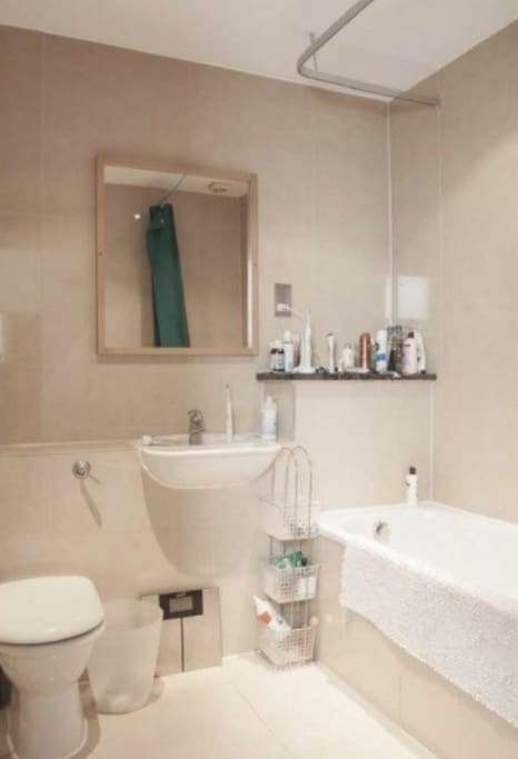 Bathroom next to your room with shower