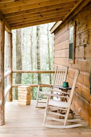 cozy up and have a coffee (or tea!) on the front porch.