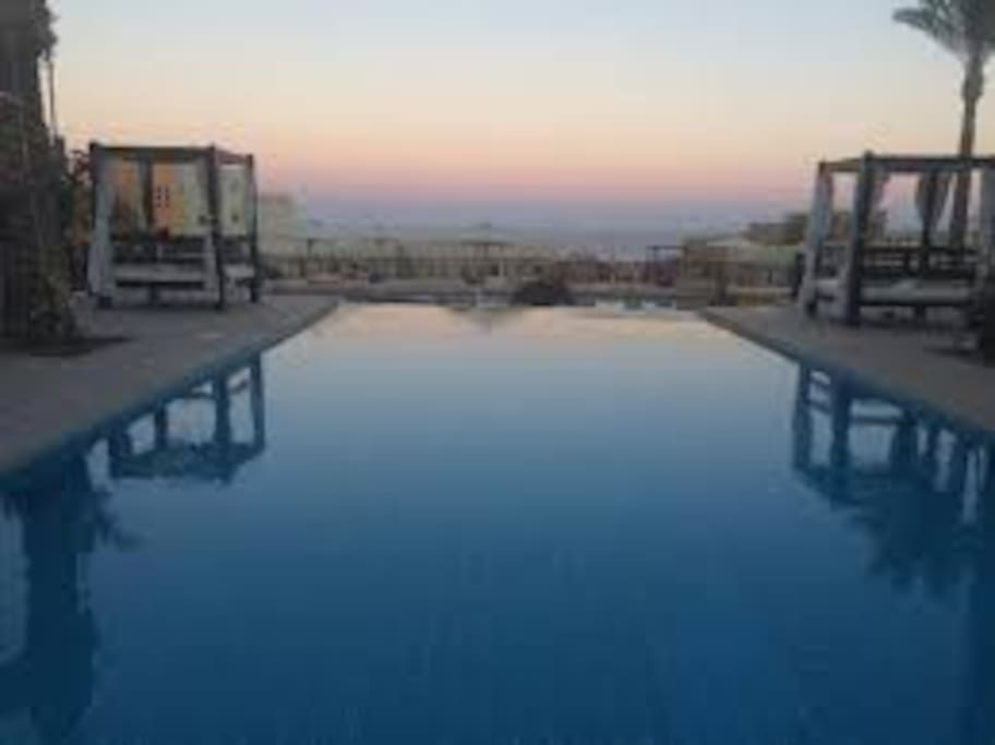 A few steps down and you get to this pool. Sunset views are amazing!