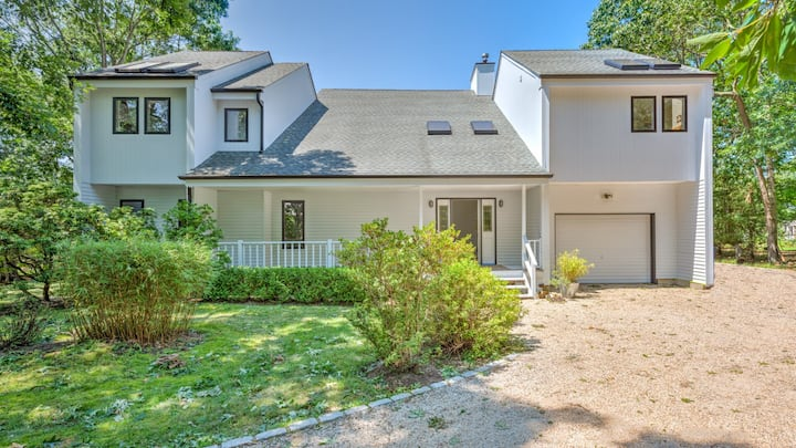 New Listing: Perfect summer escape in newly-renovated upside-down home just off Three Mile Harbor!