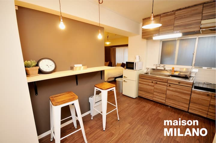 304 Renovated Private Apt★Central★Midosuji★26㎡