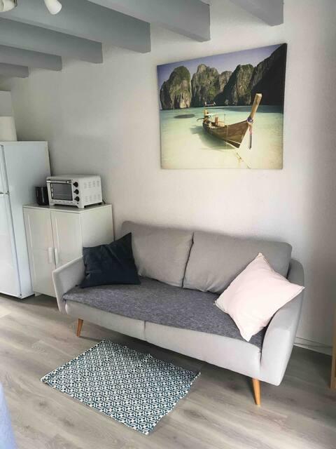 Studio mezzanine proche plage - Quartier calme