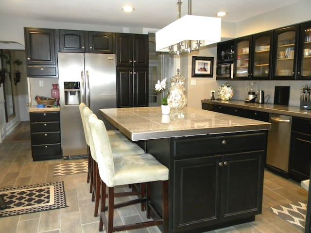 Modern center island kitchen
