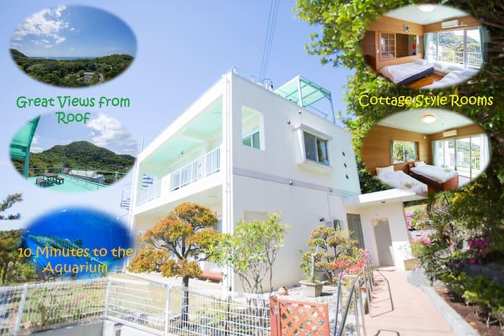 Near the Aquarium ! Villa Ama Terrace IN Motobu