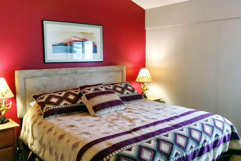 Beaver Creek West Condo J4 Master bedroom with King bed