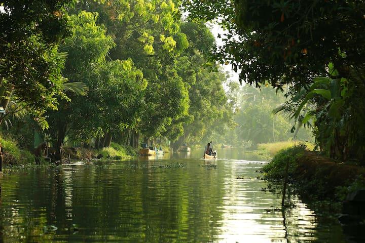 Riverside Homestay in Kuttanadu, Alleppey
