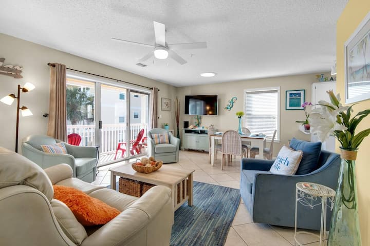 Private Beach Path Access, Pool View From Balcony, Across from Water Park - Great Price!