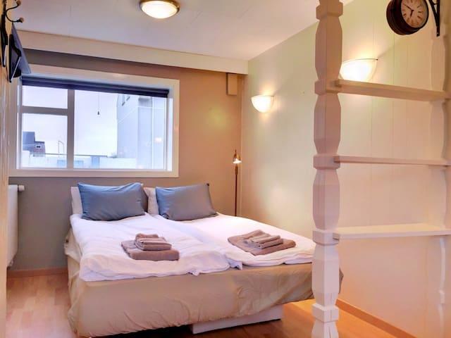 Double bedroom on lower floor