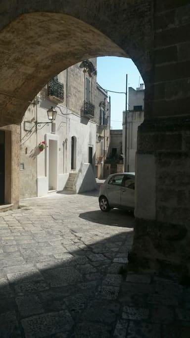 """Scorcio panoramico di Via Q.M.Corrado dove è ubicata la Casa Vacanze """"Arco Cattedrale"""""""