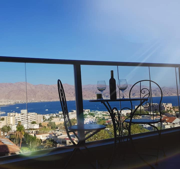magical sea view/ lovely design apt in EIlat