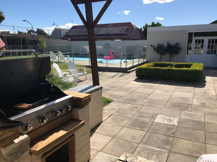 BBQ Patio and Pool area