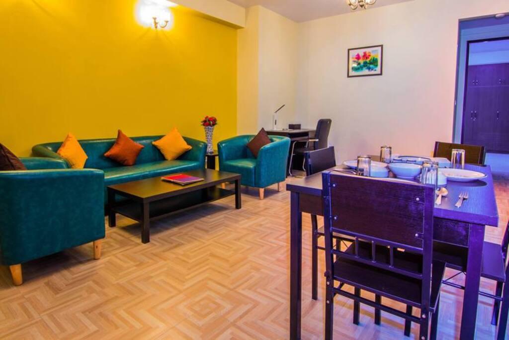 Premium Suites Living cum Dining Area