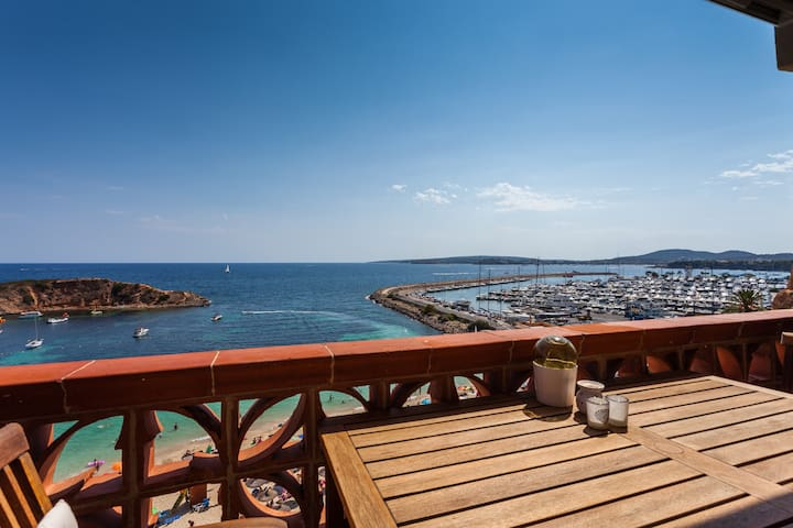 Luxurious flat on the beach with terrace sea view - Portals nous - Apartament