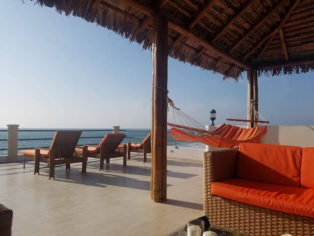 Beach Front Palapa Penthouse
