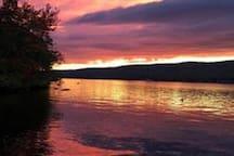 Sunset over Greenwood Lake