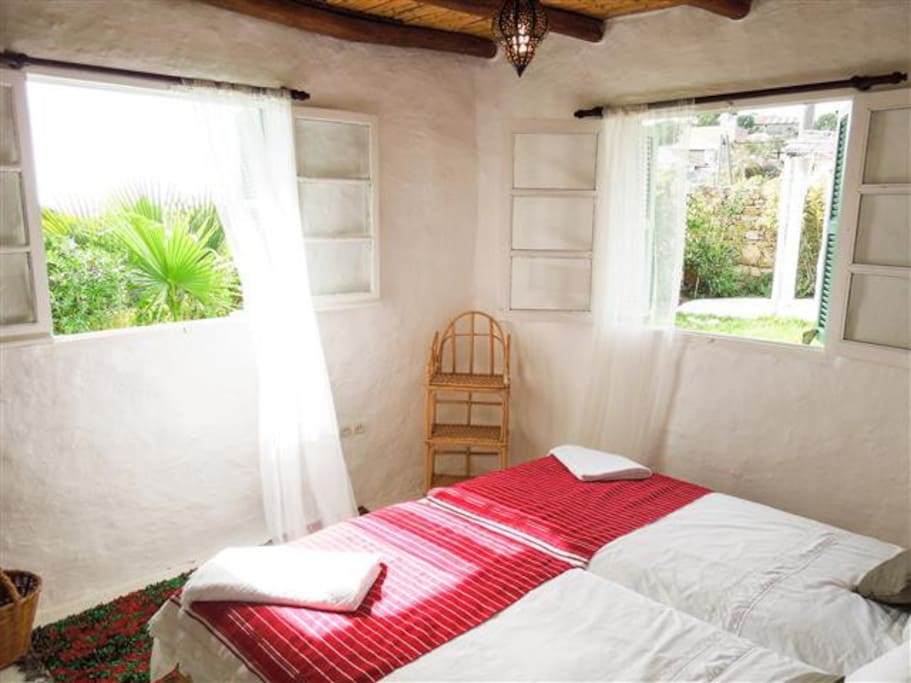 All of the bedrooms have two windows, with views to either the ocean, the garden or the surrounding countryside.