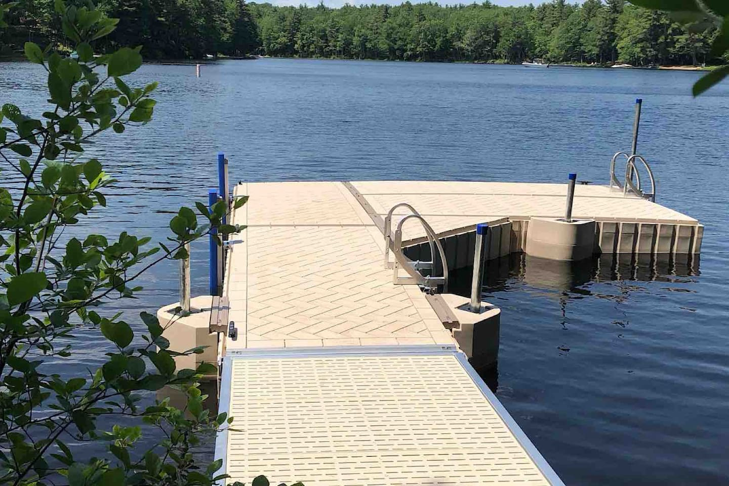 Fabulous new dock for swimming or to park your boat!