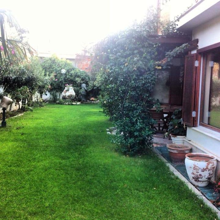 Yeşillikler içerisinde huzurlu site ortamı