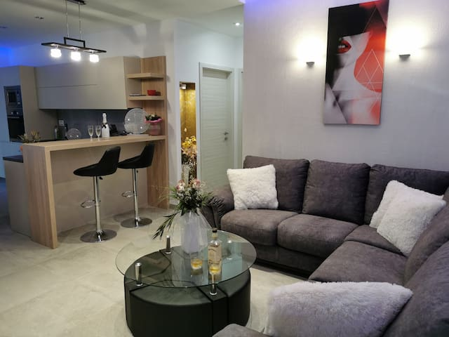 Living room with comfort sofa