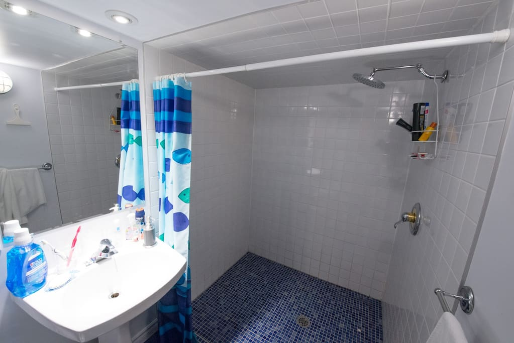 Grande douche! Huge shower !