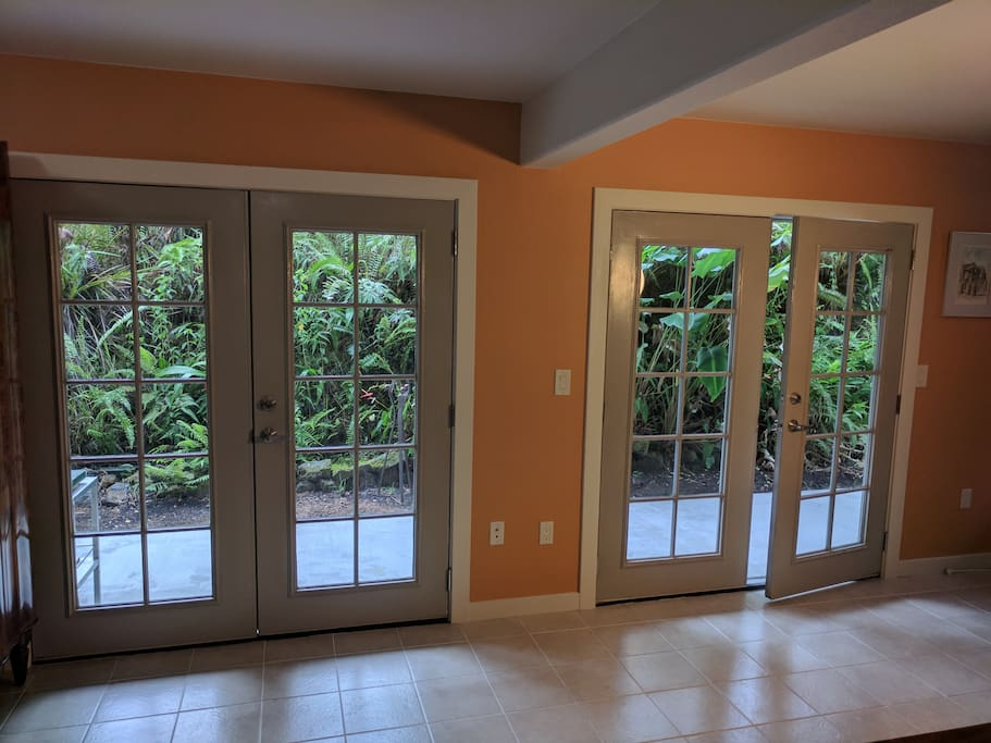 Double French Doors to Patio