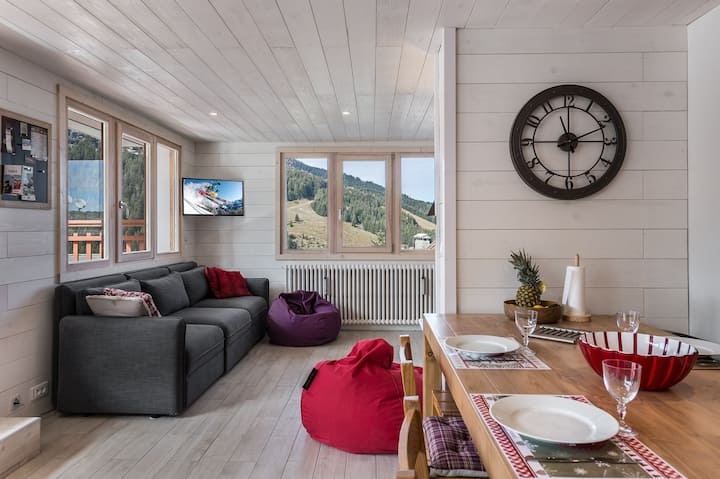 Renovated apartment and mountain decorated