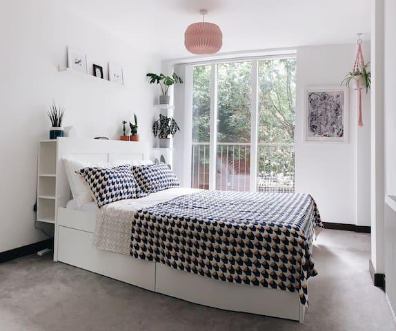 Luxury king bedroom, private bathroom and balcony