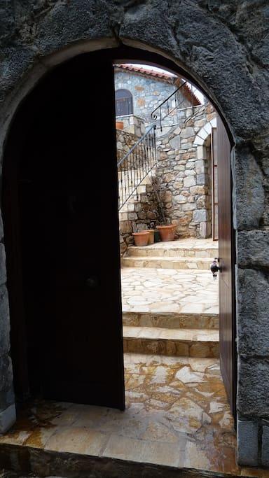Entrance to backyard