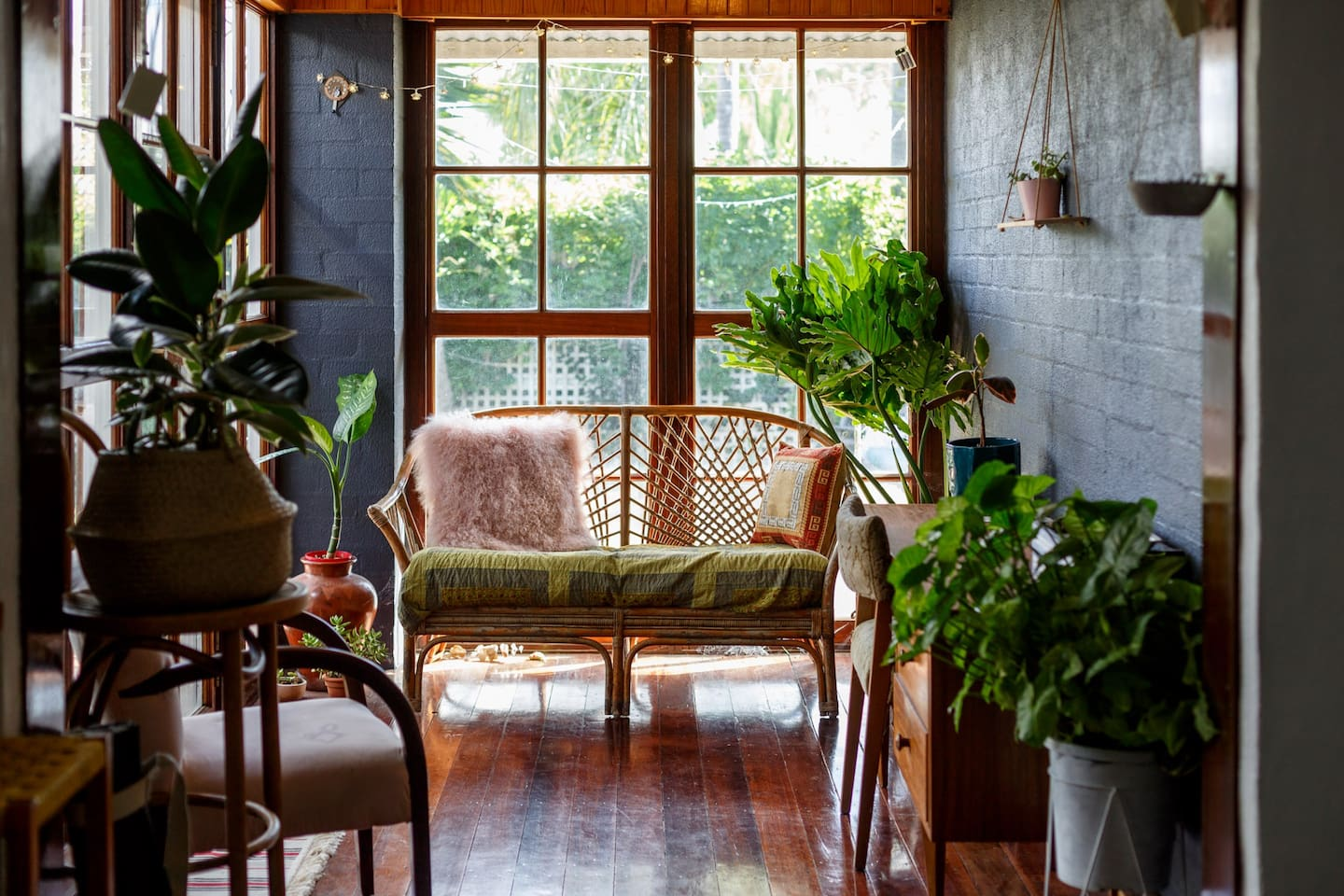 The sunroom in the afternoon
