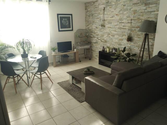 Appartement de 58m3  avec une chambre privé