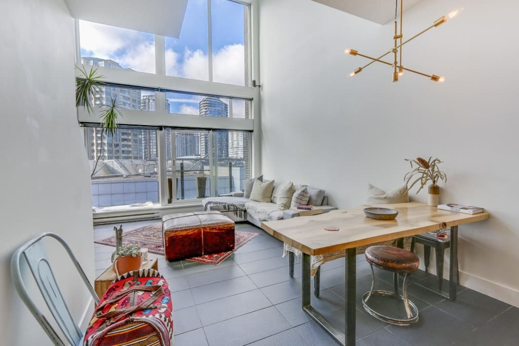 Downstairs open concept