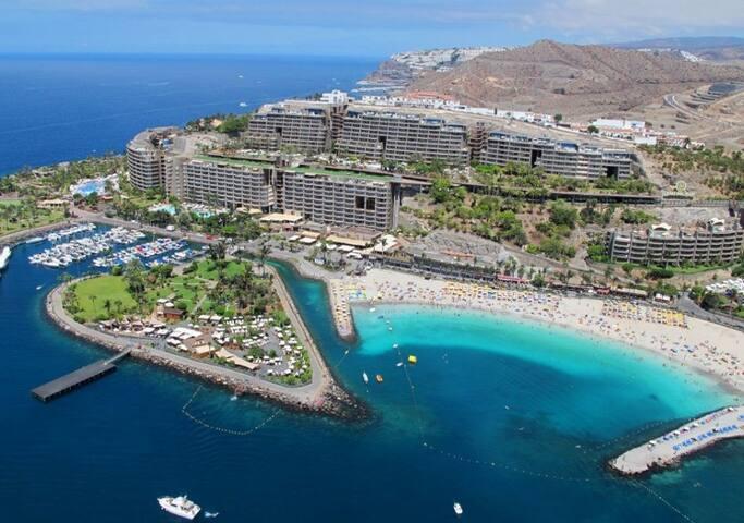 Luxus App.4-6 Pers am Sandstrand auf Gran Canaria - Mogán