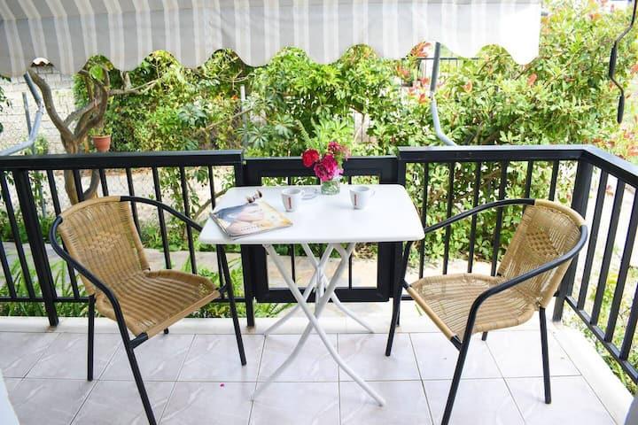 Lemon studio with garden close to the beach