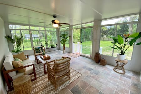 NEW 4 BR Home with Large Backyard and Sunroom